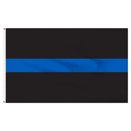 Thin Blue Line Flag 3ft x 5ft Nylon