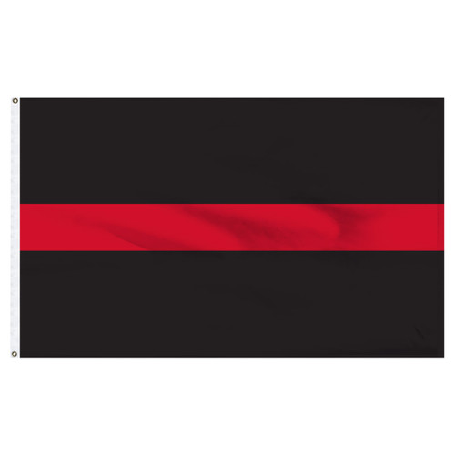 Thin Red Line Flag 3ft x 5ft Nylon