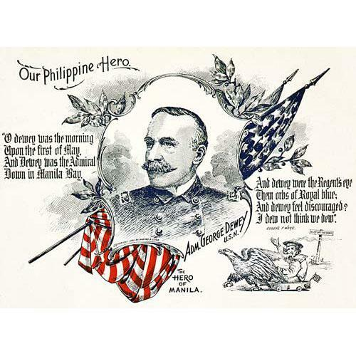 Admiral George Dewey Poster Art 1898 - Downloadable Image