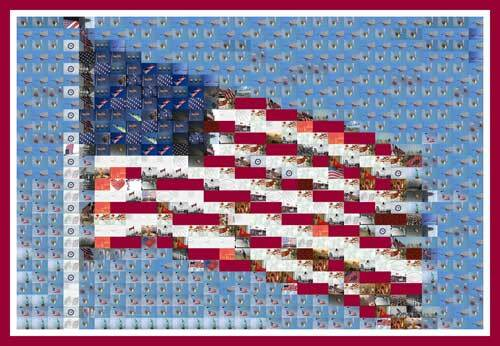 American Flag Mosaic Illustration - Downloadable Image