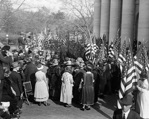 Photo of a Boy Scout American Flag Presentation in 1923 - Downloadable Image