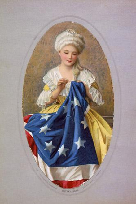 Betsy Ross Poster c1908 - Downloadable Image