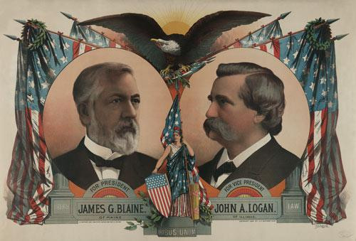 1884 Presidential Campaign Poster - Downloadable Image