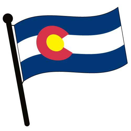 Colorado Waving Flag Clip Art - Downloadable Image
