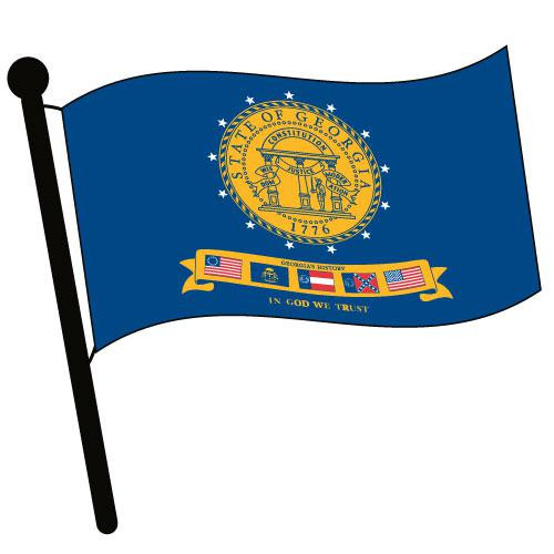 Georgia 2001 Waving Flag Clip Art - Downloadable Image