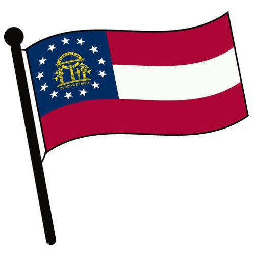 Georgia Waving Flag Clip Art - Downloadable Image