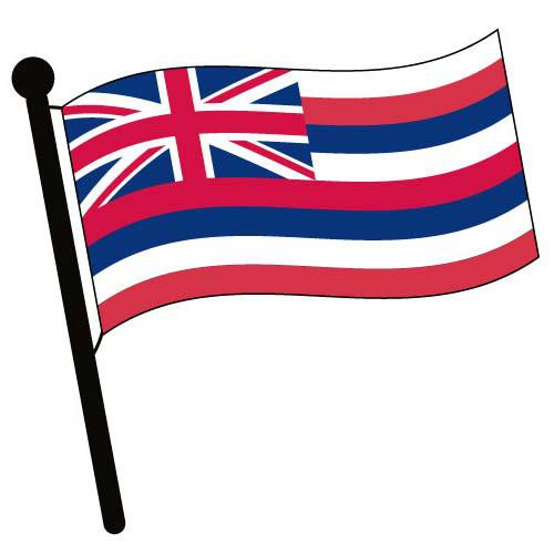 Hawaii Waving Flag Clip Art - Downloadable Image