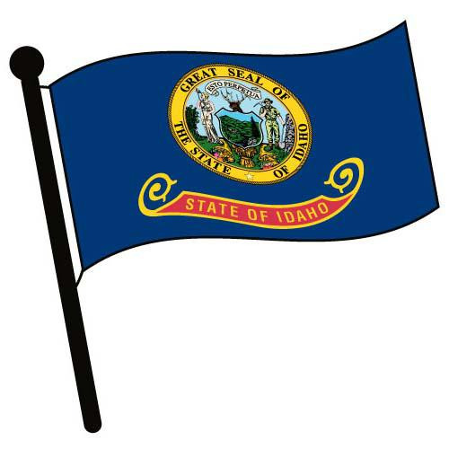Idaho Waving Flag Clip Art - Downloadable Image