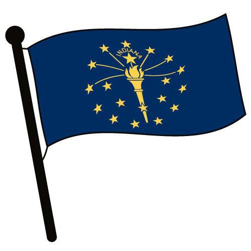 Indiana Waving Flag Clip Art - Downloadable Image