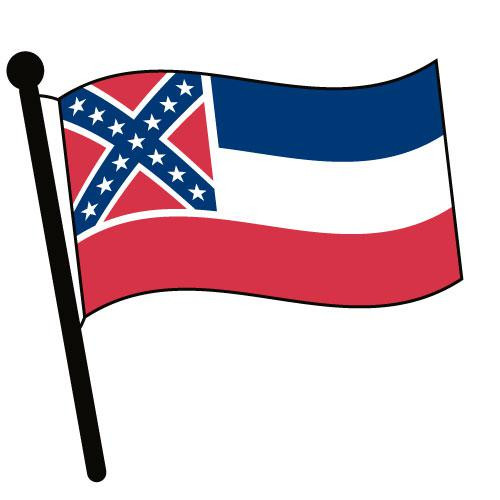 Mississippi Waving Flag Clip Art - Downloadable Image