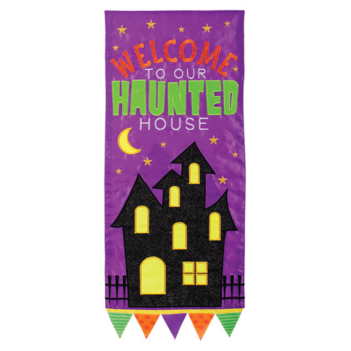 Carson Halloween Long Banner Flag - Haunted House