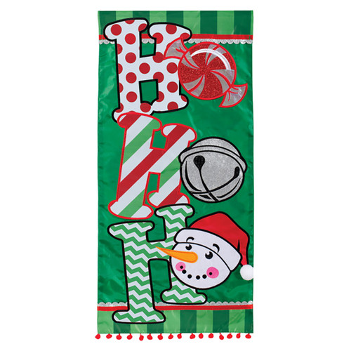 Carson Applique Long Banner Flag - Ho Ho Ho