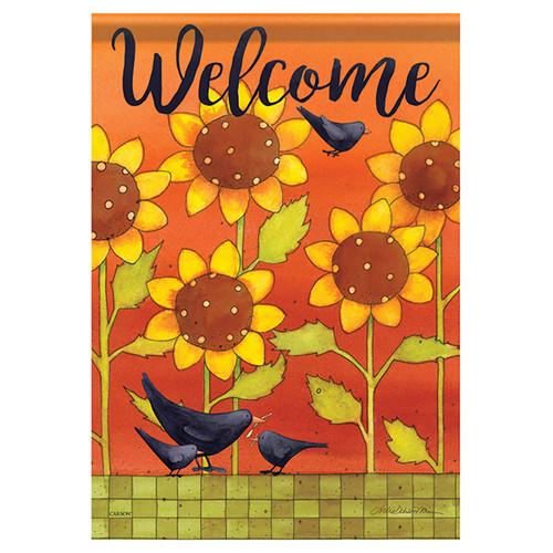 Carson Fall Garden Flag - Sunny Fall Crows