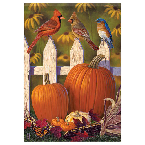 Carson Fall Garden Flag - A Fall Birds View