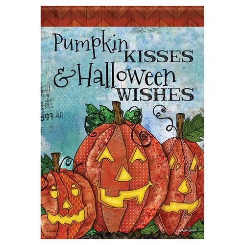 Carson Halloween Garden Flag - Pumpkin Kisses