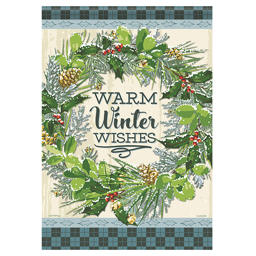 Carson Winter Garden Flag - Snowy Wreath