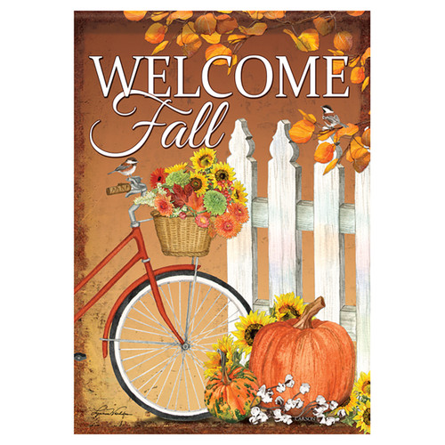 Carson Fall Garden Flag - Fall Bicycle