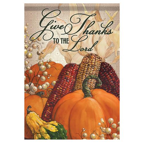 Carson Thanksgiving Garden Flag - For He Is Good