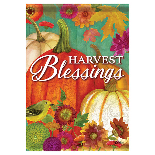 Carson Fall Garden Flag - Pumpkin Harvest Blessings