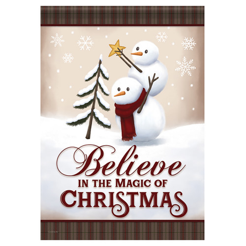Carson Christmas Garden Flag - Believe in the Magic