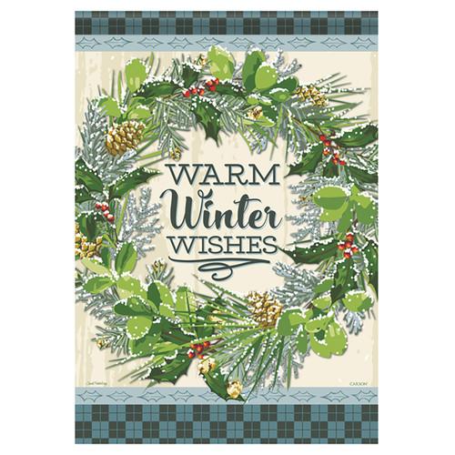Carson Winter Banner Flag - Snowy Wreath