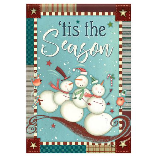 Carson Christmas Banner Flag - Playful Snowmen