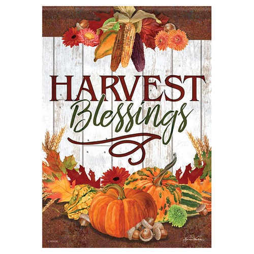 Carson Harvest Banner Flag - Harvest Blessings