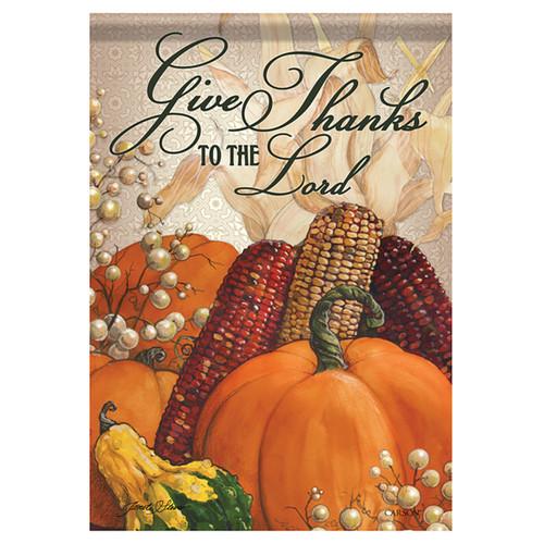 Carson Thanksgiving Banner Flag - For He Is Good