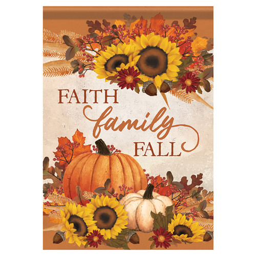 Carson Fall Banner Flag - Faith Family Fall