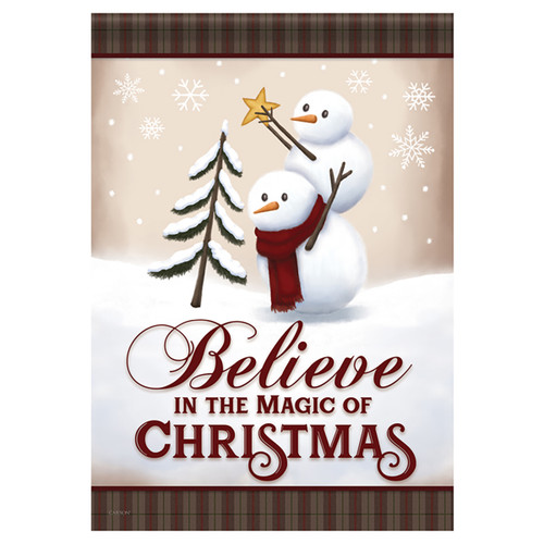 Carson Christmas Banner Flag - Believe in the Magic