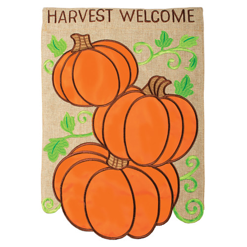 Carson Harvest Garden Flag - Harvest Welcome