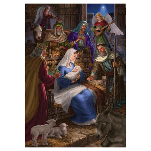 Christmas Banner Flag - Holy Nativity