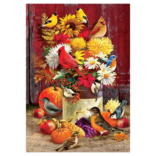 Fall Banner Flag - Autumn Songbirds