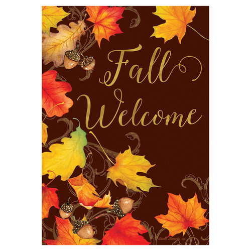 Fall Banner Flag - Falling Leaves
