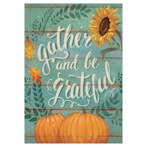 Thanksgiving Banner Flag - Gather & Be Grateful