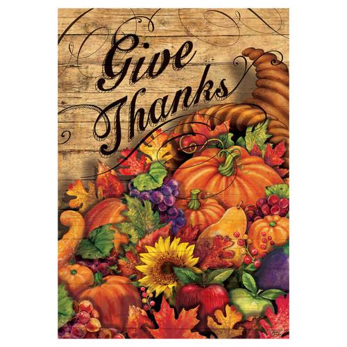Thanksgiving Banner Flag - Horn Of Plenty