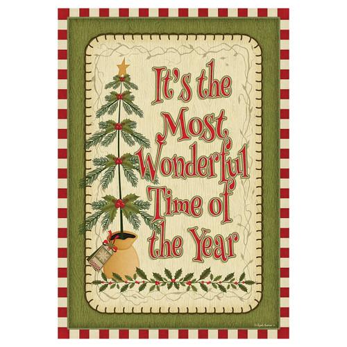 Christmas Banner Flag - Wonderful Time