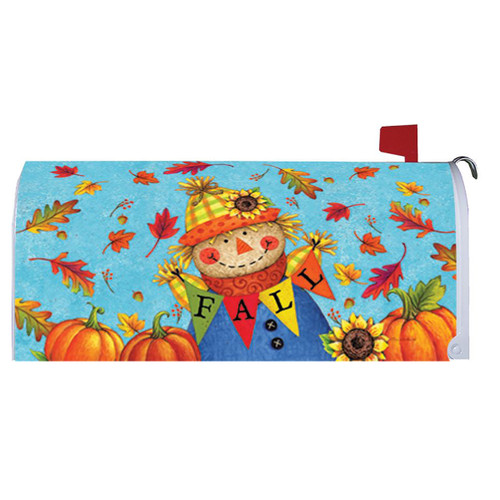 Fall Mailbox Cover - Fall Scarecrow