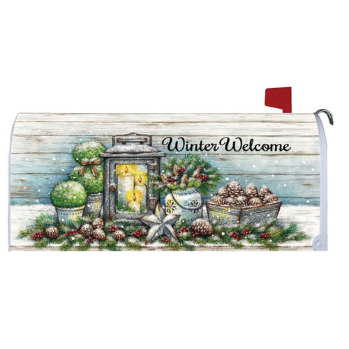 Winter Mailbox Cover - Warm Winter Welcome