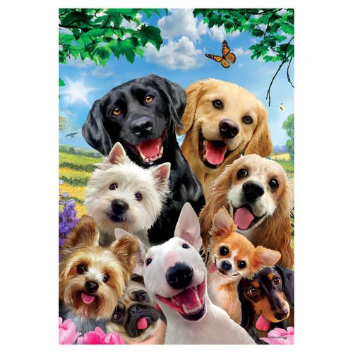 Everyday Garden Flag - Dog Selfie