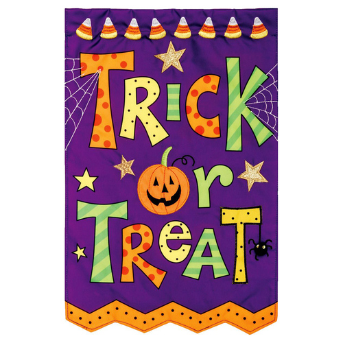 Halloween Garden Flag - Trick or Treat