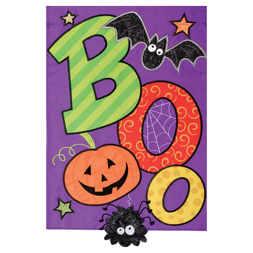 Halloween Garden Flag - Boo Spider
