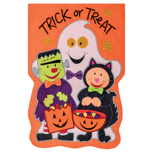 Halloween Garden Flag - Trick or Treating