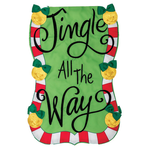 Christmas Garden Flag - Jingle All the Way