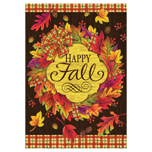 Fall Garden Flag - Fall Wreath