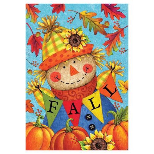 Fall Garden Flag - Fall Scarecrow