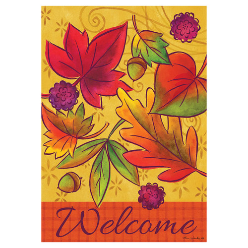 Fall Garden Flag - Leaves Falling