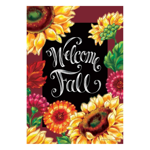 Fall Banner Flag - Welcome Sunflowers