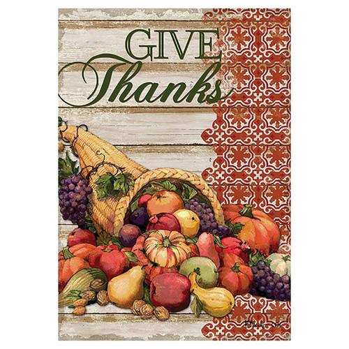 Thanksgiving Garden Flag - Cornucopia