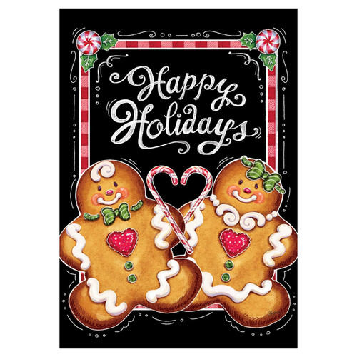 Christmas Garden Flag - Gingerbread Holiday